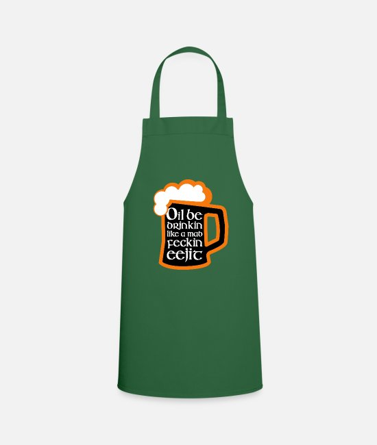 St Patricks Day Aprons - Irish St Patrick's Day Drunk Celebration - Apron green