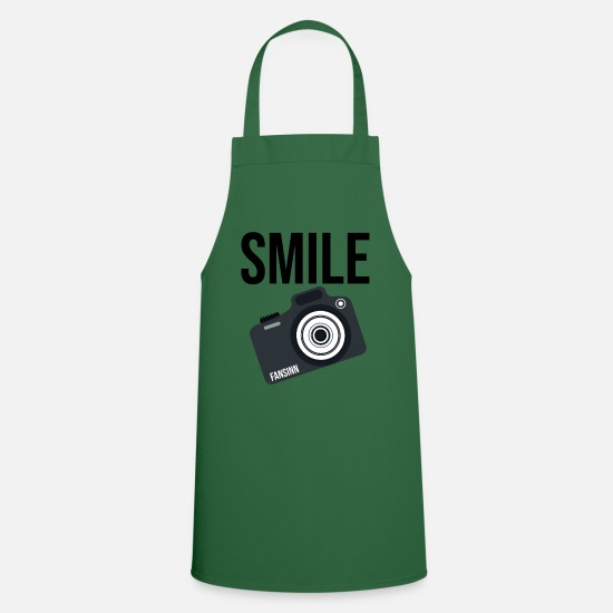 Lightning Aprons - Camera Photographer Image Motive SLR Gift - Apron green