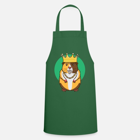 Birthday Aprons - Hamster pet rodent rodent Funny gangster - Apron green