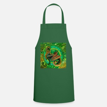 Forest forest dragon poster - Apron
