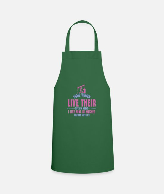Industry Aprons - Oilfield Wife Life - Apron green