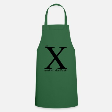 Mark Something The X marks the point - Cooking Apron