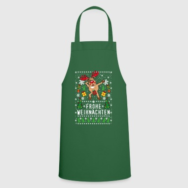 Naked 201 deer Rudolph Dabbing naked Merry Christmas - Cooking Apron