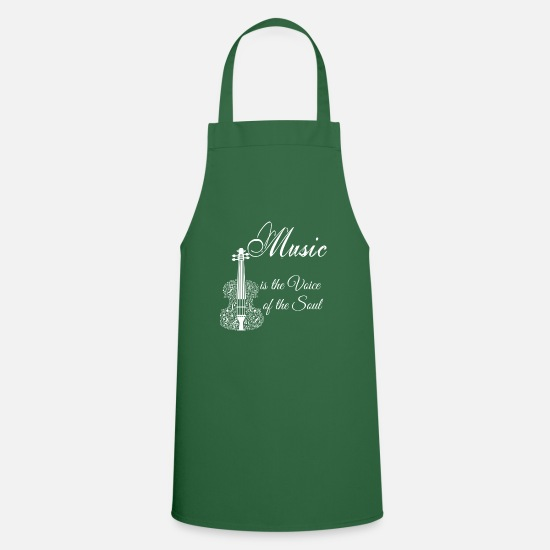 Voice Aprons - Music is the voice of the soul - Apron green