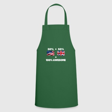 Leeds Half British Half American Totally Awesome - Cooking Apron