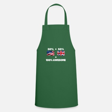 Leicester Half British Half American Totally Awesome - Cooking Apron