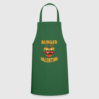 Hamburger Burger is my Valentine Hamburger Fast Food Burger - Grembiule da cucina