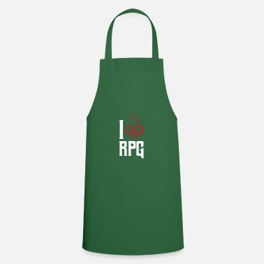 Rpg RPG DND RPG dice heart dungeon gift - Apron