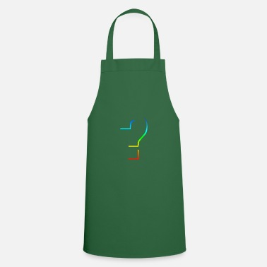 Question Mark Question question question mark rainbow - Cooking Apron
