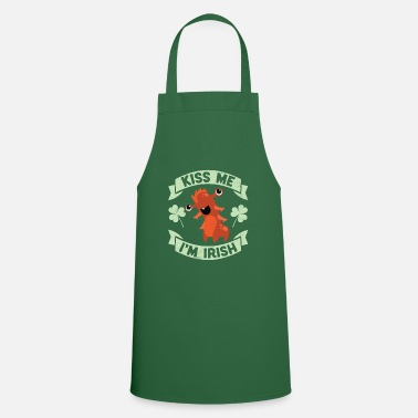Parade Kiss Me I'm Irish Funny Monster St Patrick's Day - Cooking Apron