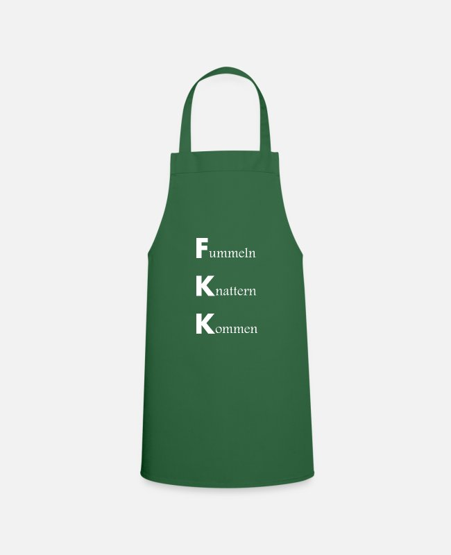 Abbreviation Aprons - FKK saying, abbreviation, sex, fumbling, rattling - Apron green