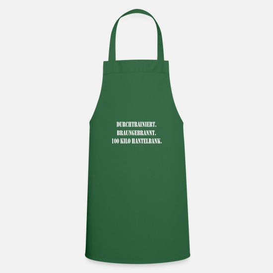 Gift Idea Aprons - Trained burned brown - Apron green