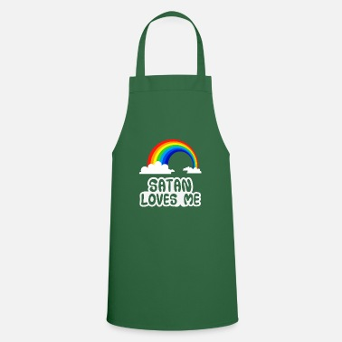 Satanic Satan Loves Me Shirt · Colorful Sweet · Trend Gift - Cooking Apron