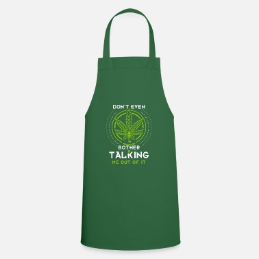 Smoke Weed Pothead Kiffen Grass Joint Grilling Smoking Gift - Apron