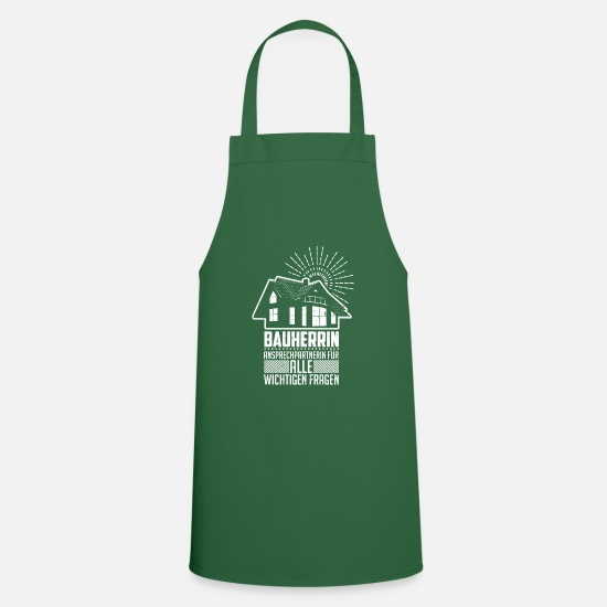 Renovate Aprons - Builder renovate house construction - Apron green