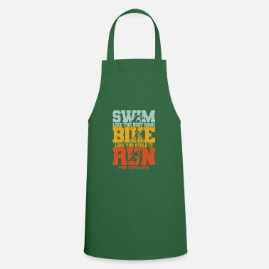 Swim Bike Run Triathlon Swim Bike Run Swim Bike Run - Apron