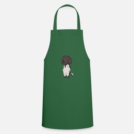 Comic Aprons - Small Münsterländer - Apron green