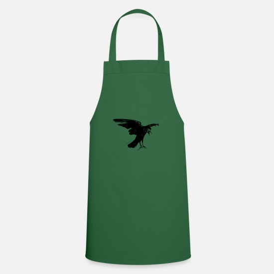 Gift Idea Aprons - Animal Collection - Birds - Hand painted birds - Apron green