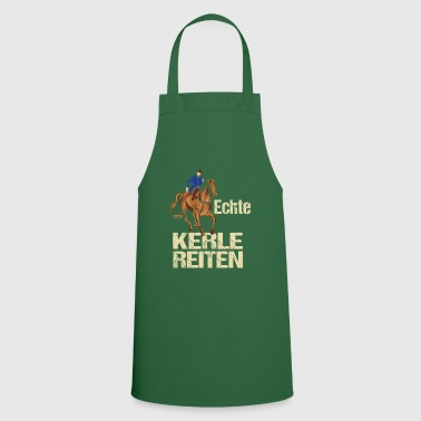 Real guys riding HARIZ horses riding pony - Cooking Apron