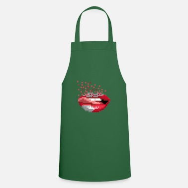 Retro Pixel Mouth Retro - Apron