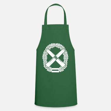 Artillery Beret badge artillery white - Cooking Apron