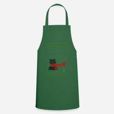 Knitted Snowcat (black) - Cooking Apron