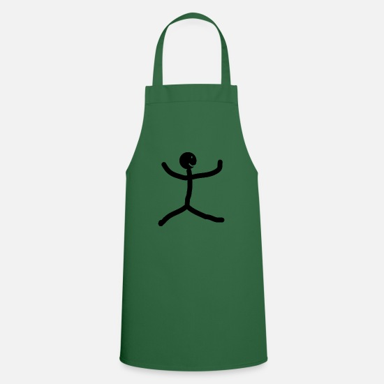 Man Aprons - stick figure - Apron green