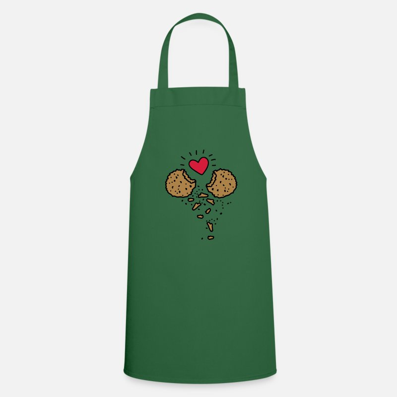 Advent Aprons - Cookies in Love - Apron green