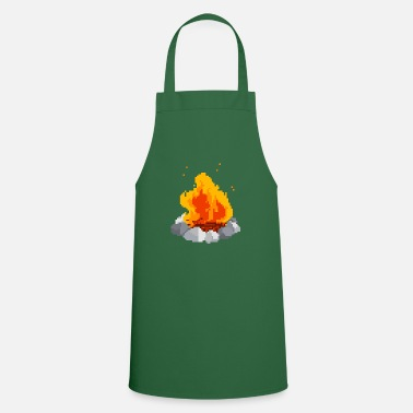 Pixel Pixel fire pixel fire - Cooking Apron