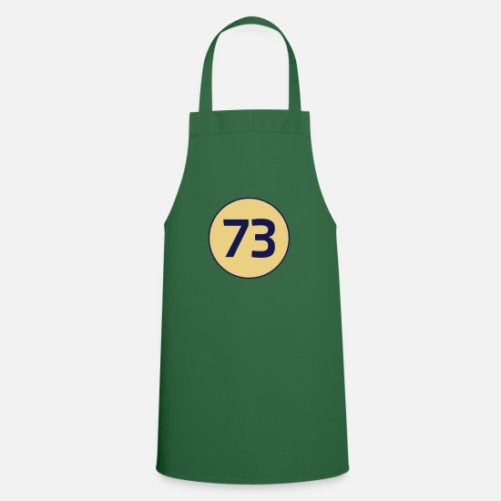 Bang Aprons - 73 the best number Big Bang Number Theory Theory - Apron green
