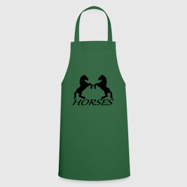 Horses horse riding equitation - Cooking Apron