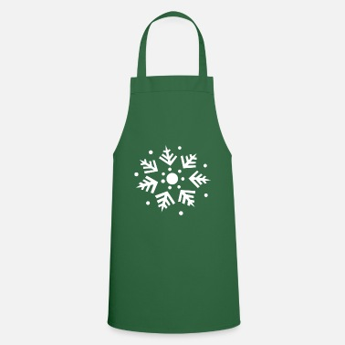 Snowflake gift idea ice crystal - Cooking Apron