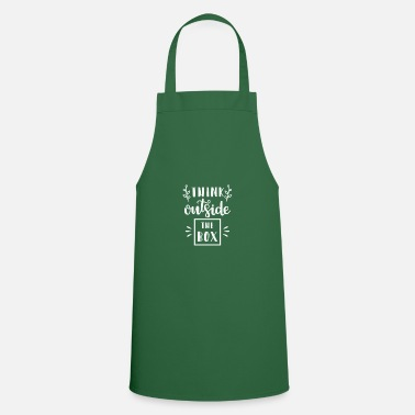 Career Think outside drawer gift saying box - Cooking Apron