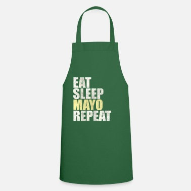 Curry Eat Sleep Mayo Repeat Mayonnaise French Fries Gift - Cooking Apron