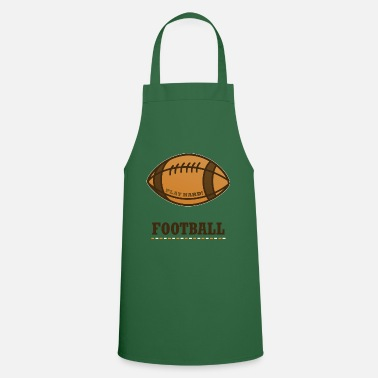 Rugby Ball Football Super Bowl Sport Helmet - Cooking Apron