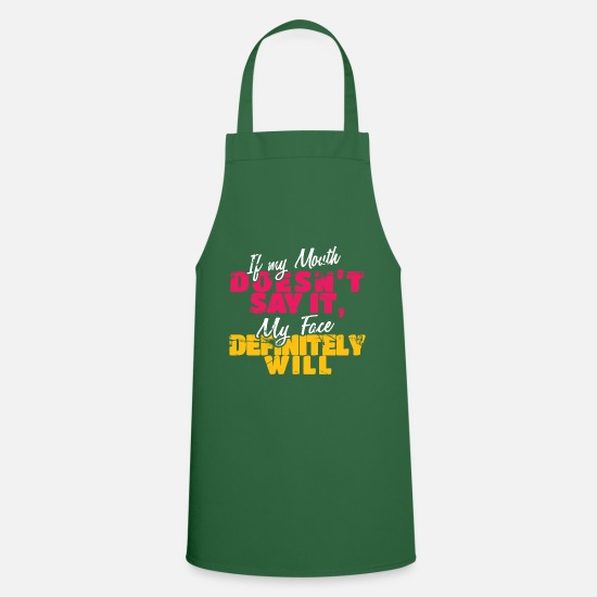 Face Aprons - expression - Apron green