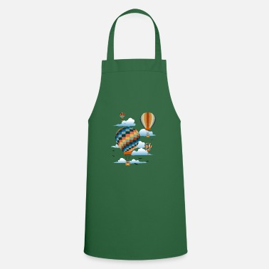 Air Up In The Air | 4 colorful hot air balloons | gift - Apron