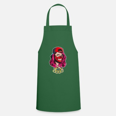 Gangster Woman gangster tattoo art roses - Apron