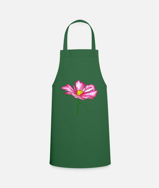 Nature Aprons - enchanting pink flower, blossom, pink, pink - Apron green