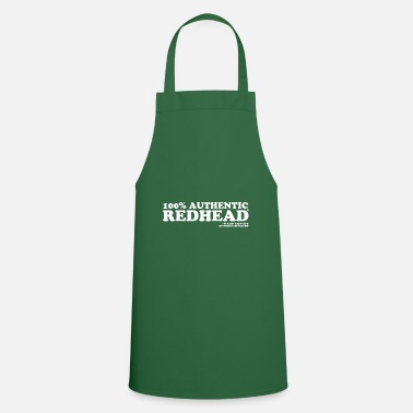 Red 100% Authentic Redhead - Apron