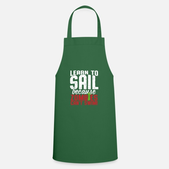 Fisherman Aprons - Learn To Sail - Apron green