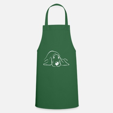 Dog Silhouette 10a - Cooking Apron