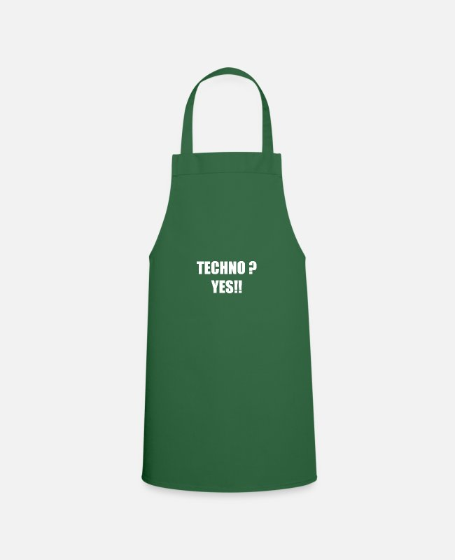 Bass Aprons - Techno Yes - Apron green