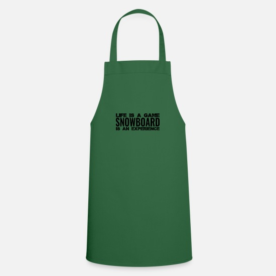Birthday Aprons - Snowboarder for Life I winter vacation Alps - Apron green
