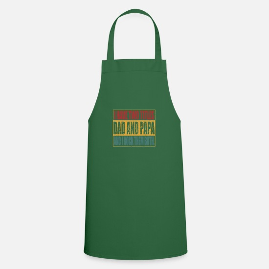 Gift Idea Aprons - Dad and Dad - Apron green