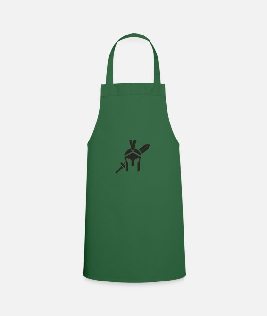 Sword Aprons - Sword and helmet - Apron green