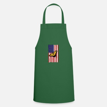 Monarch Butterfly America Flag Independence Day - Apron