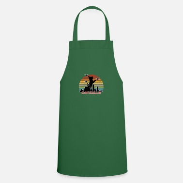 Catzilla I Cat Japanese City Funny Costume print - Apron