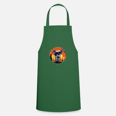 Graduation Mens Witching Hour Graphic Cat - Apron