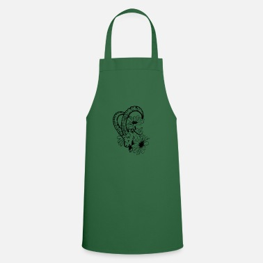 Goat And Flowers - Apron
